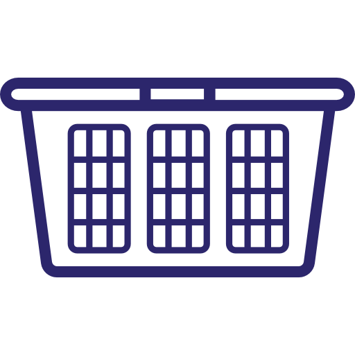 Self-Serve Basket icon for Star Laundromat, the best laundromat in Cape Cod, located in Hyannis, MA. Clean your clothes at our friendly, self-serve vended laundry machines or drop-off your laundry with our wash and fold service. We are open everyday and accept credit cards.